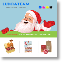 Werbeartikel Lukrateam Katalog logofood suesses für Weihnachten